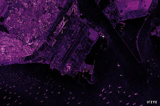 ICEYE radar satellite image from Singapore