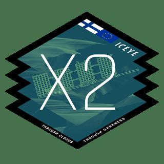 ICEYE-X2 mission logo
