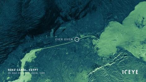 ICEYE_SAR_satellite_image_Suez_Canal_Ever_Given_Strip