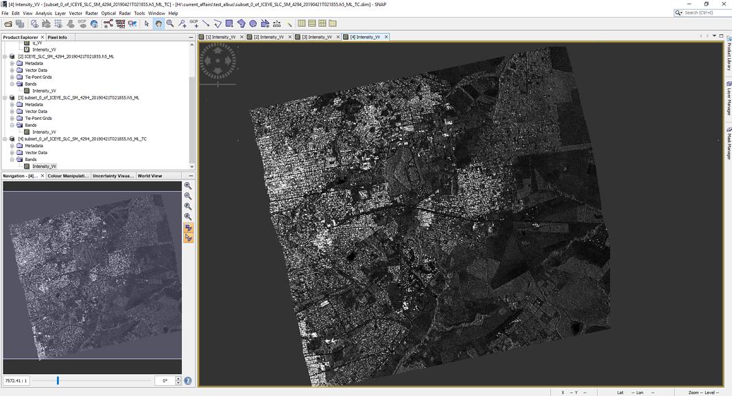 Sar Data - SNAP - Geocoding Data