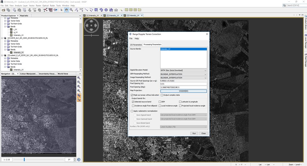 Sar Data - SNAP - Geocoding Parameters