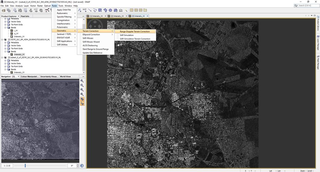 Sar Data - SNAP - Geocoding